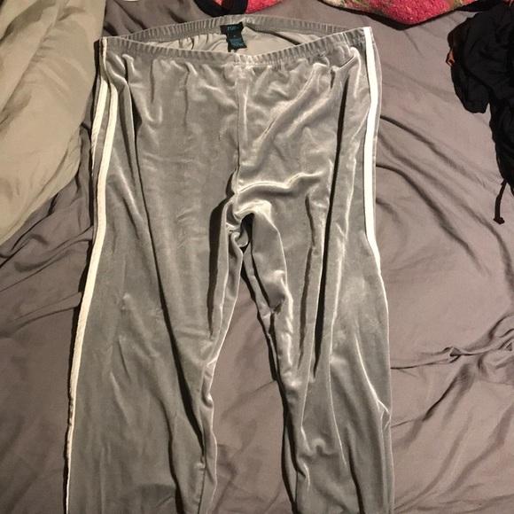Rue21 Pants - Crushed velvet gray leggings